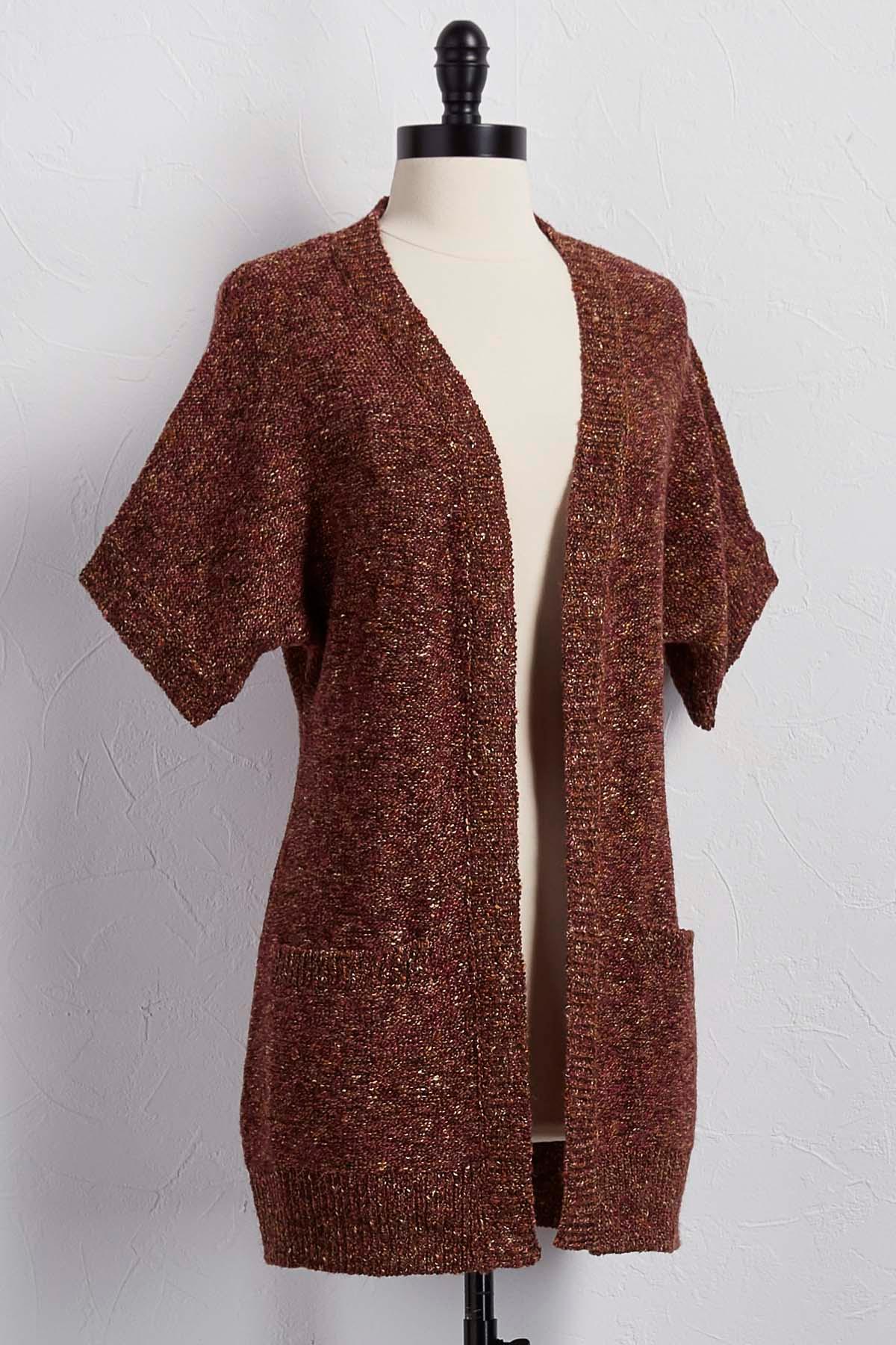 Versona | marbled short sleeve cardigan