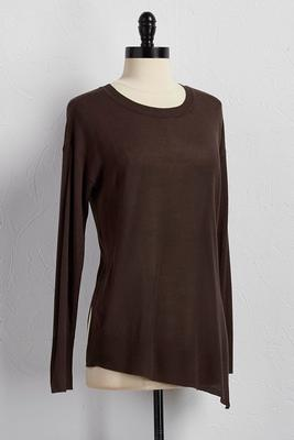 asymmetrical sweater tunic