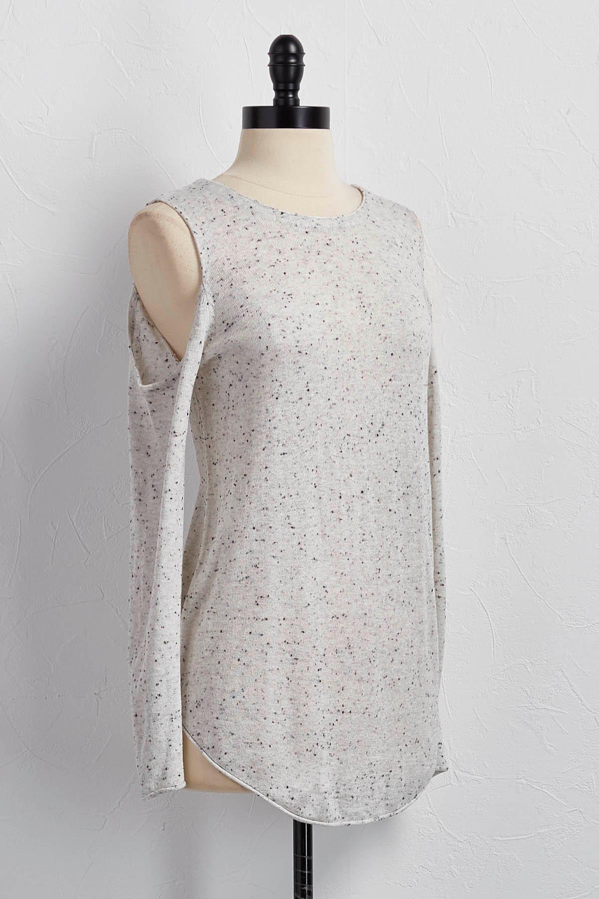 Speckled Bare Shoulder Tunic