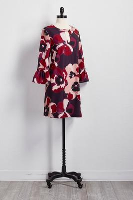 floral cutout shift dress
