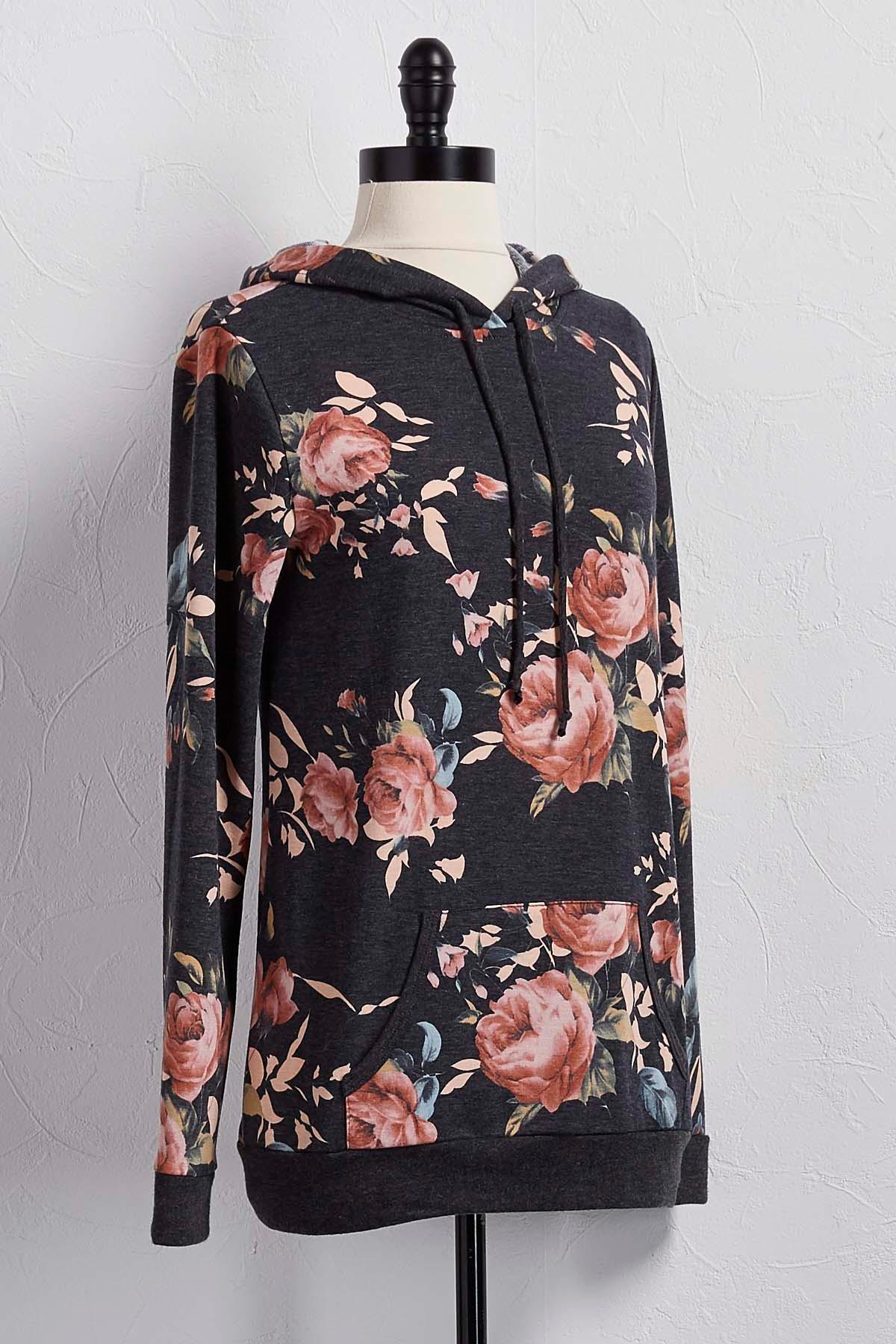 Romantic Floral Hoodie