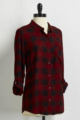 buffalo plaid button down shirt