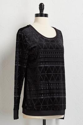 burnout velvet pullover