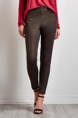 Foiled Ponte Ankle Leggings