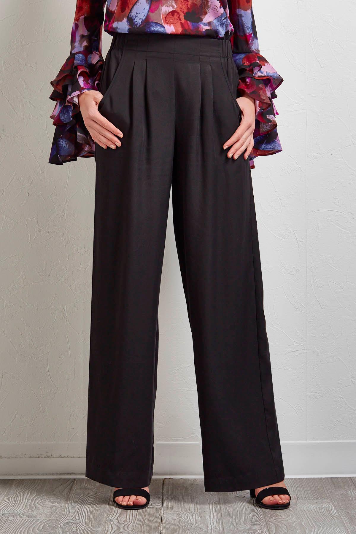 Wide Leg Pull- On Pants