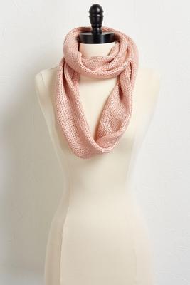 cozy metallic infinity scarf