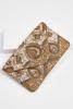 Embellished Gold Metallic Clutch