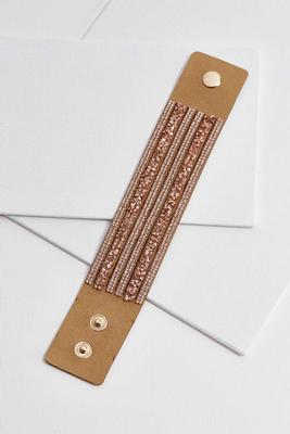 crystal faux suede bracelet