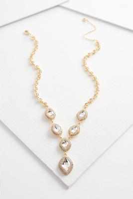 pave statement y-necklace