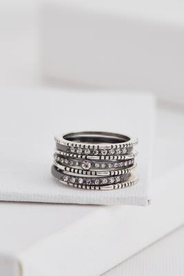 two-toned textured ring set