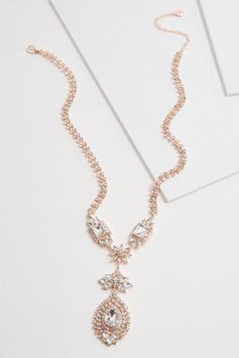 sparkling stone y-necklace