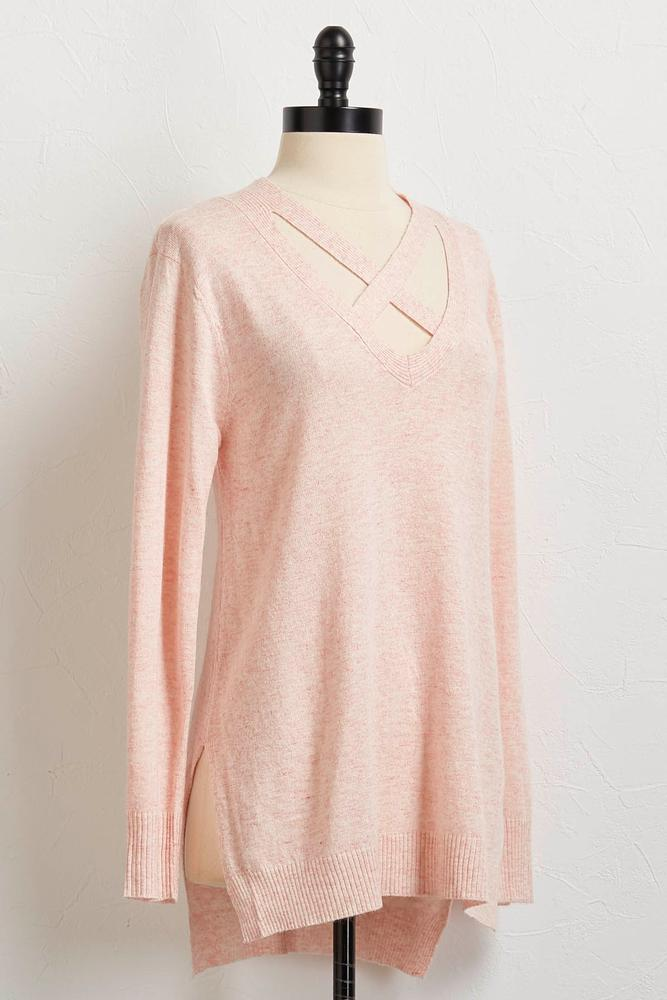High- Low Cross Front Tunic