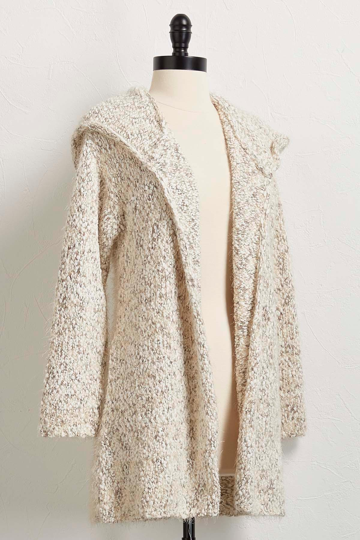 Versona | chunky hooded cardigan sweater