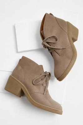 lace up faux suede shooties s
