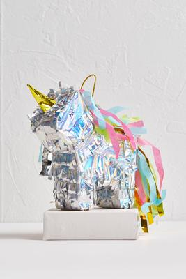 metallic unicorn pinata