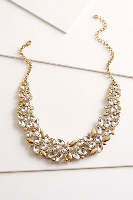 rhinestone bib necklace s