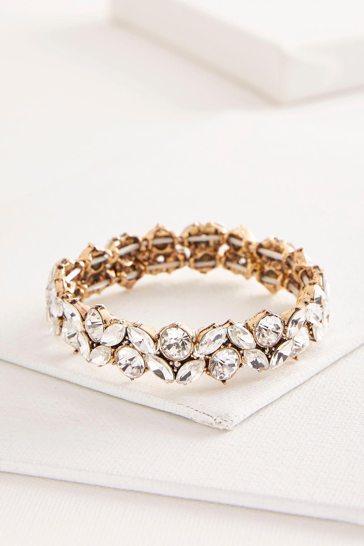 Floral Stone Stretch Bracelet
