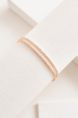 rhinestone double pull string bracelet