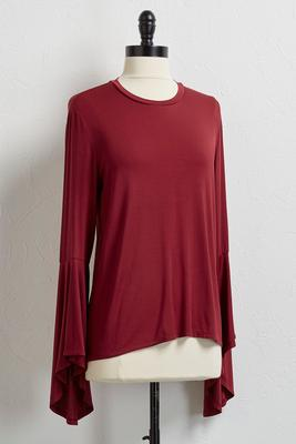 statement flare sleeve top