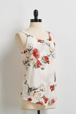 green gable floral tank