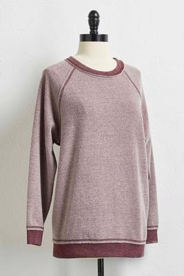 mineral wash fleece sweatshirt
