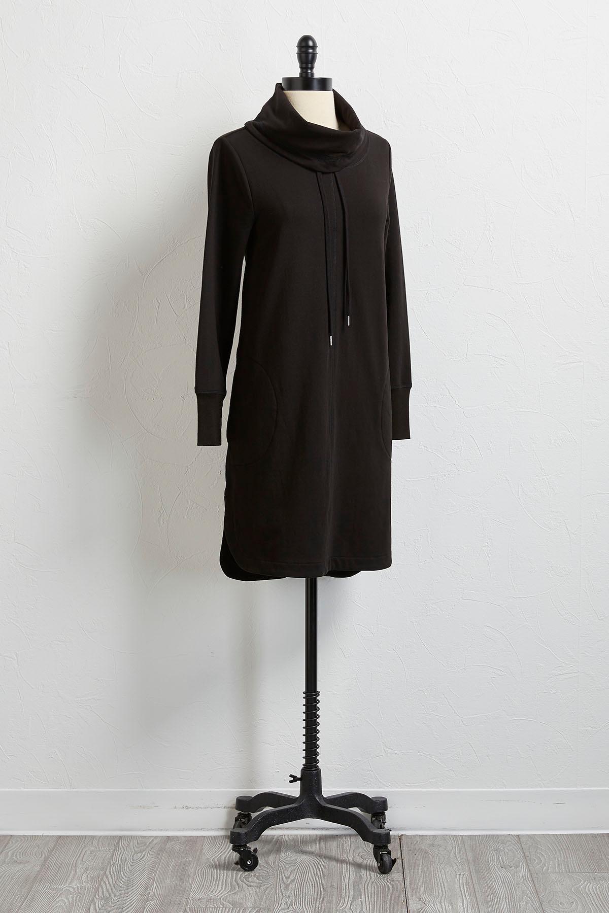 Cowl Neck Athleisure Dress