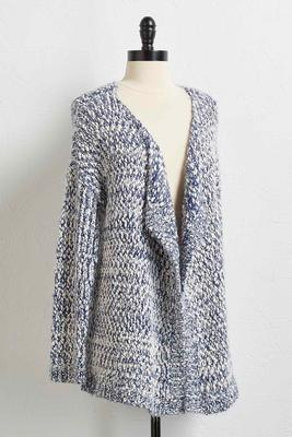 two-toned eyelash cardigan