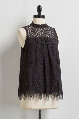 floral lace cleo neck tank