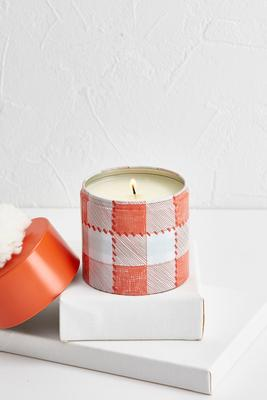 spiced coral candle tin