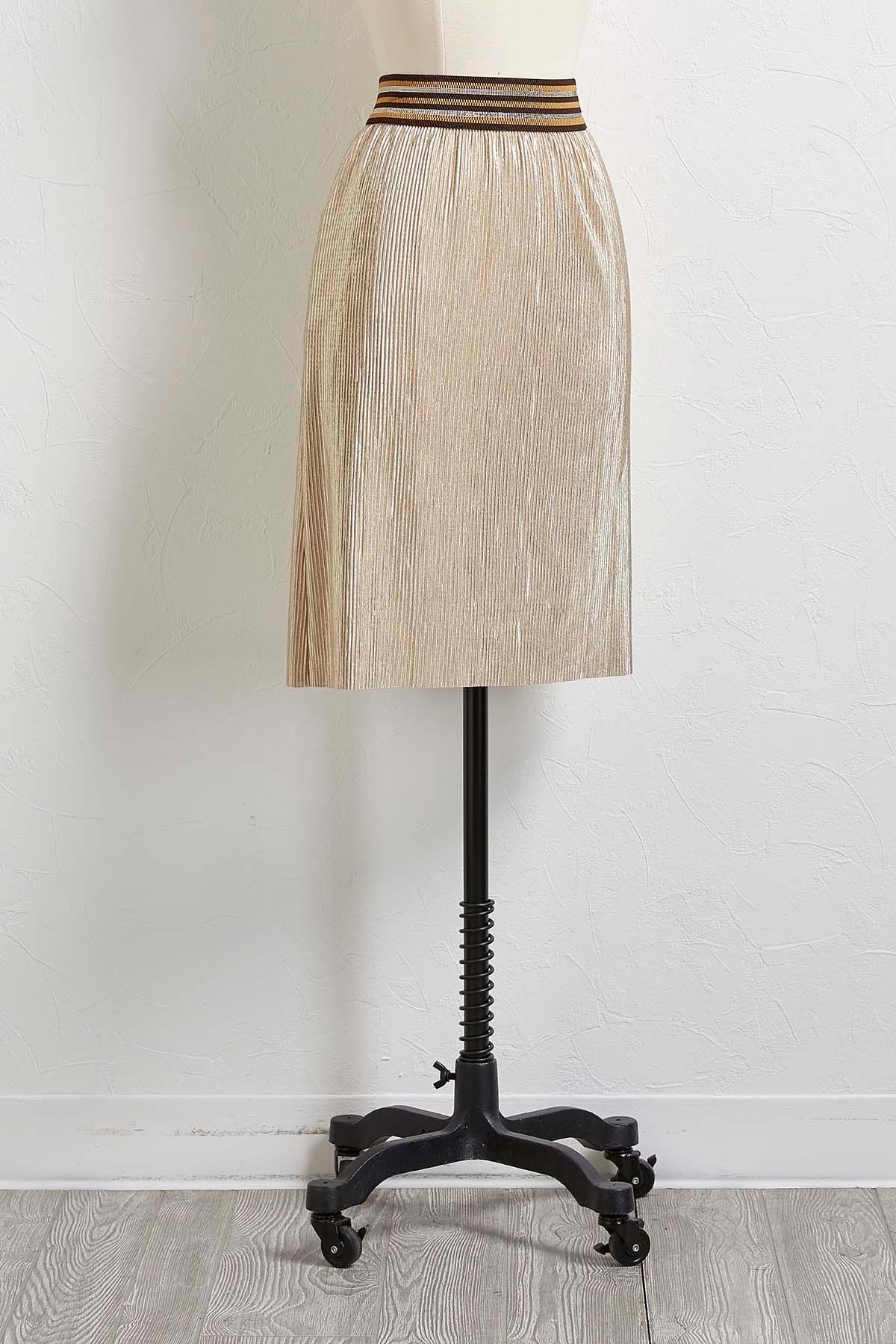 versona pleated metallic skirt