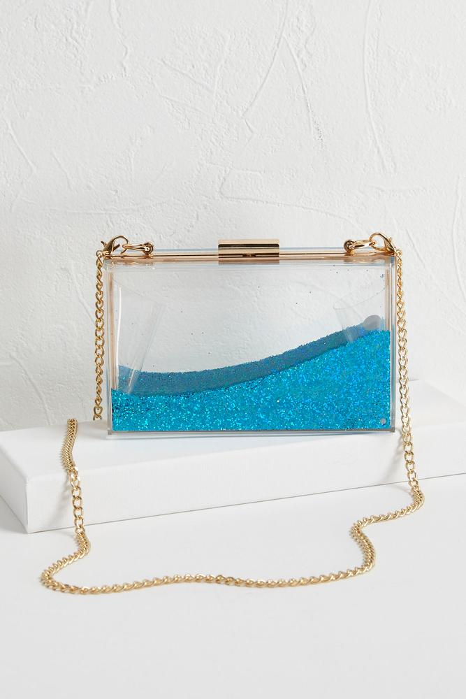 Shaky Glitter Box Clutch