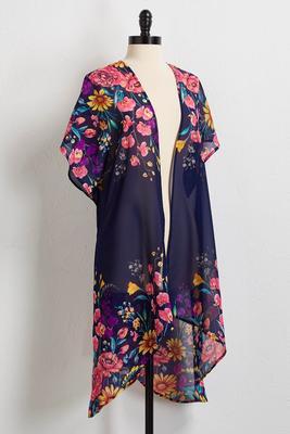 bright floral kimono