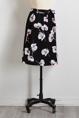 pansy print midi skirt