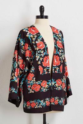 open floral jacket