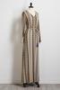 Mosaic Striped Maxi Dress
