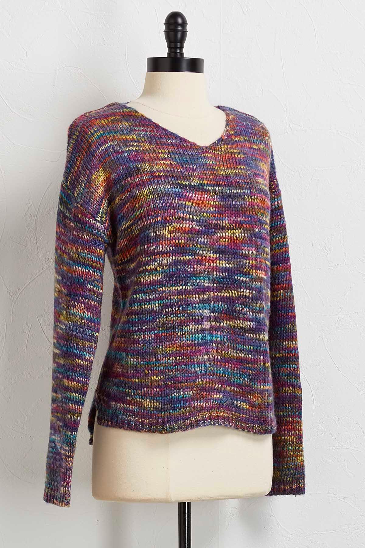 Lavender Rainbow Sweater