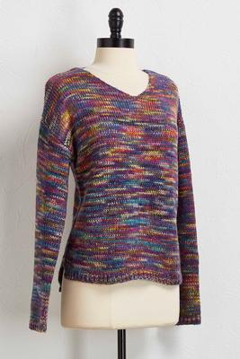 lavender rainbow sweater