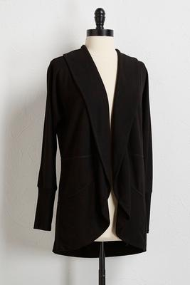 solid draped cardigan