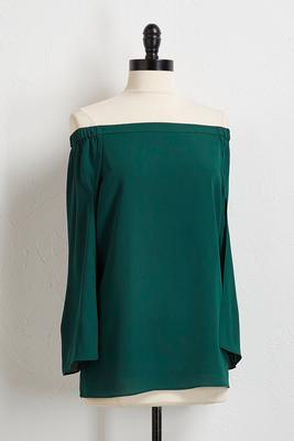 off the shoulder capelet top