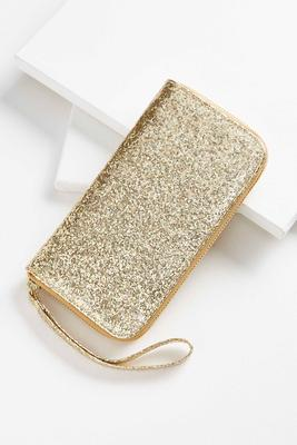glitter charging wristlet