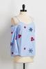 Floral Embroidered Bare Shoulder Top
