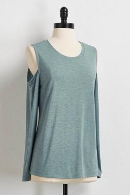 metallic dusted bare shoulder top