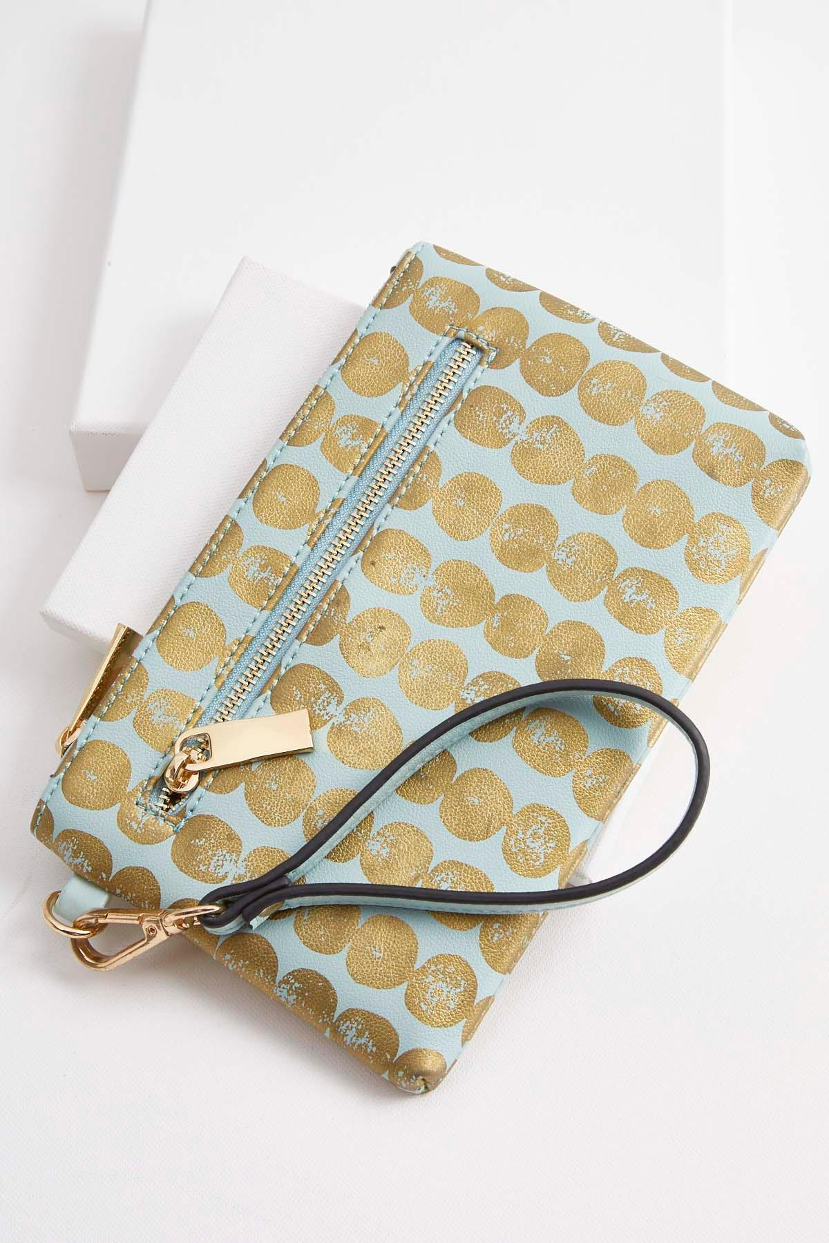 foiled dotted wristlet s