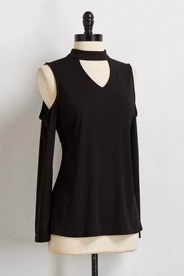 cutout bare shoulder top