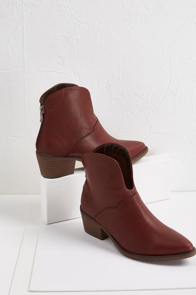 Split Vamp Western Ankle Boot
