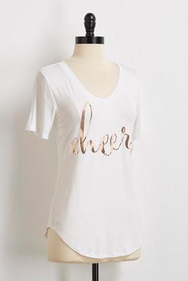 cheers metallic tee