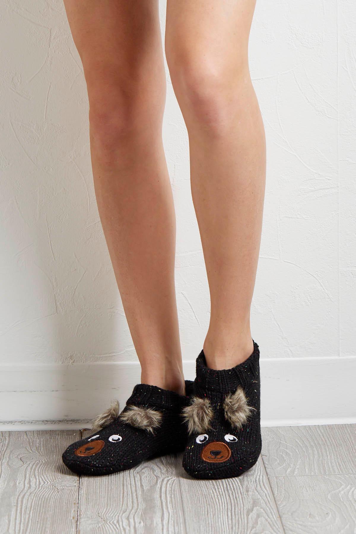 Cozy Bear Slipper Socks
