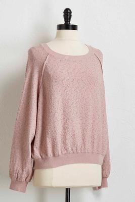 cozy textured sweatshirt