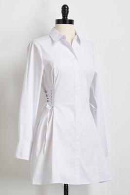 corset tie waist tunic