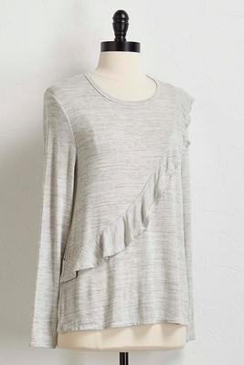 ruffled asymmetrical hacci top